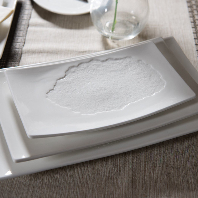 These rectangle plates from the create collection are great for appetizers and sides.