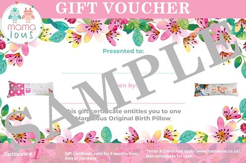 Gift Voucher - Mamalous Original Birth Pillow