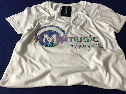 Signature White Soft Style T-Shirt (Holographic Sky Print)