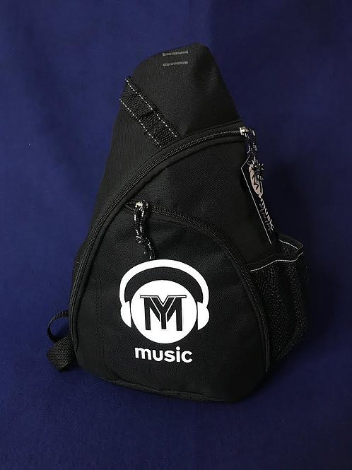 Unisex Black Sling Backpack