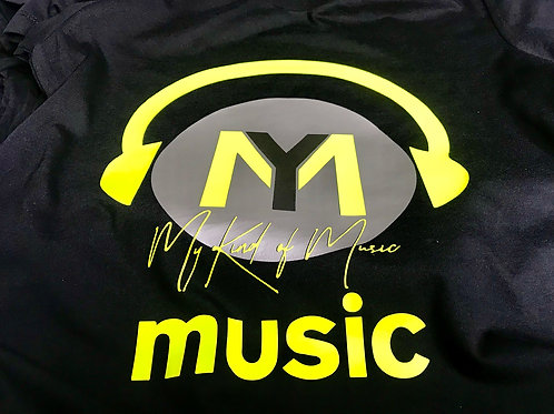 Signature Soft Black T-Shirt  (Florescent Yellow, Silver & El Tungston)
