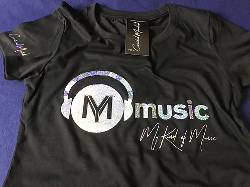 Signature Black Soft Style T-Shirt (Holographic Sky Print)