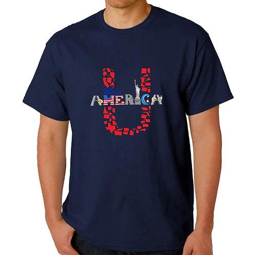 Men's Crew Neck Blue T-Shirt