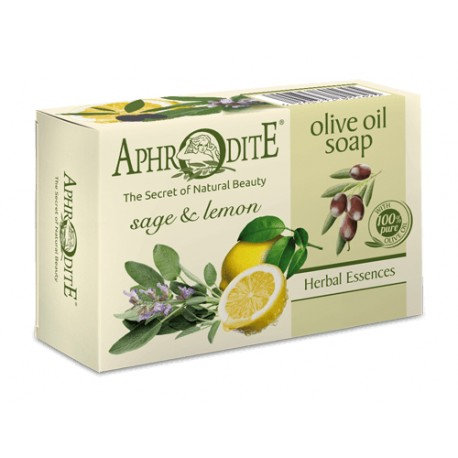 APHRODITE Olive oil soap with Lemon & Sage 100g