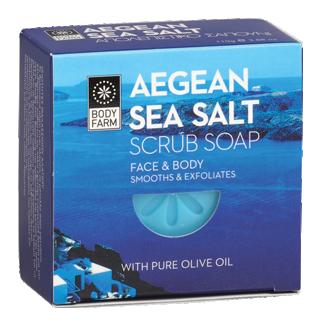 Bodyfarm Aegean Sea Salt Scrub Soap 110g