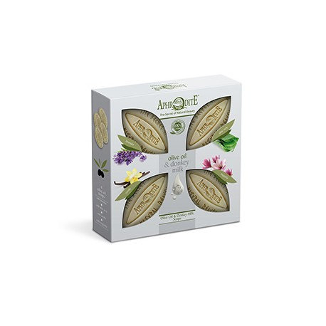 APHRODITE 4 Olive Oil & Donkey Milk Soaps Gift Set
