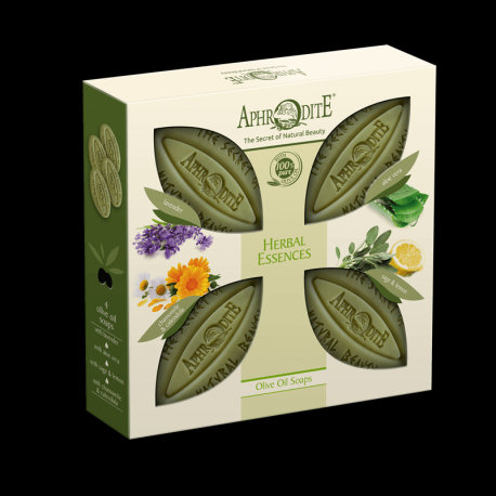 APHRODITE Herbal Essences Four Soaps Gift Set