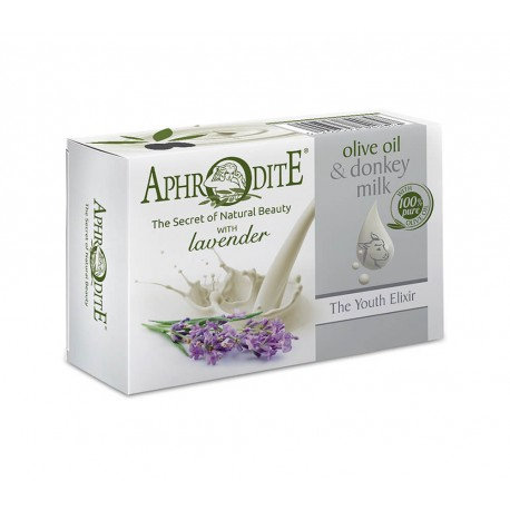 APHRODITE Olive oil & Donkey milk Olive oil soap with Lavender 85g