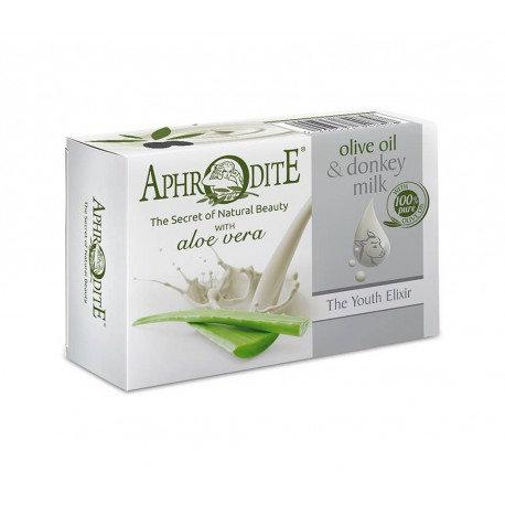 APHRODITE Olive oil & donkey milk soap with Aloe vera 85g