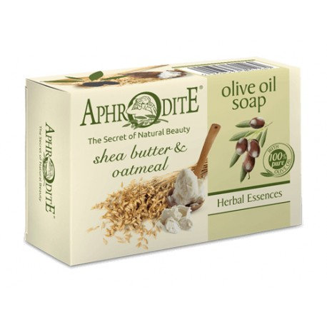 APHRODITE Olive oil soap with Shea Butter & Oatmeal 100g