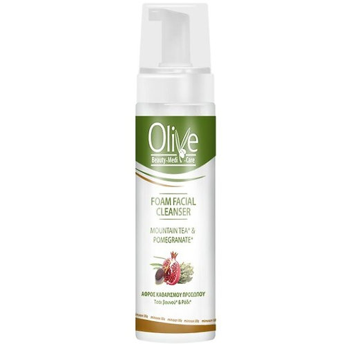 Minoan Life Foam Facial Cleanser – Olive, Mountain Tea & Pomegranate 150ml