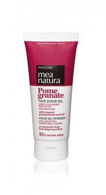 Mea Natura Pomegranate Face Scrub Gel Gentle Cleansing Exfoliator 100ml