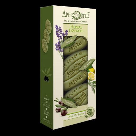APHRODITE Herbal Essences Three Soaps Gift Set
