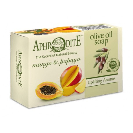 APHRODITE Olive oil soap with Mango & Papaya 100g