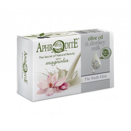 APHRODITE Olive oil & donkey milk soap with Magnolia scent 85g