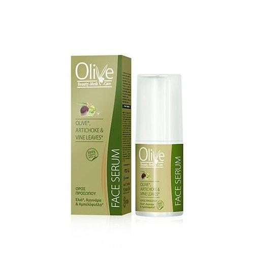 Minoan Life Face Serum – Olive, Artichoke & Vine Leaves 30ml