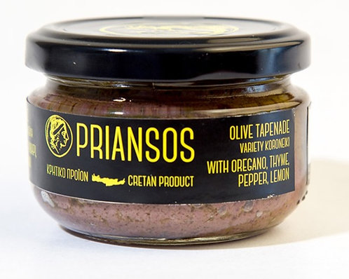 copy of Priansos Olive Pate with Oregano, Thyme, Pepper & Lemon 100g