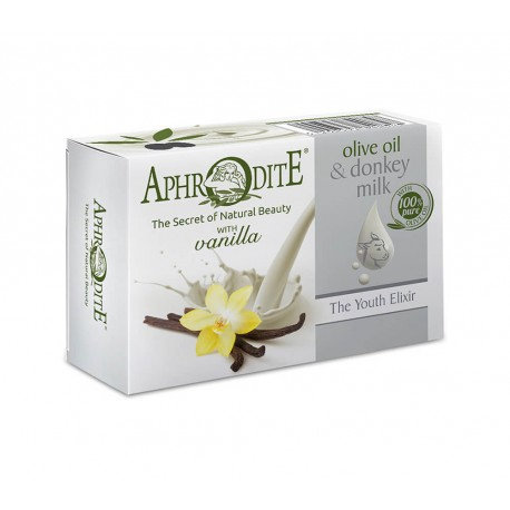 APHRODITE Olive Oil & Donkey Milk Soap with Vanilla scent 85g