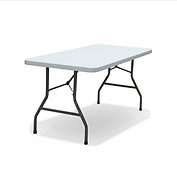 6ft Grey Trestle Table - Front View.png