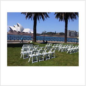 White Gladiator Chairs - Wedding Ceremon