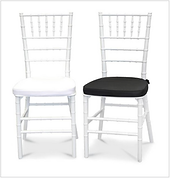 White Tiffany Chair - Front - Black & Wh