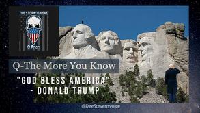 """God Bless America"" - Donald Trump"