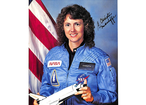 Christa McAuliffe Signed NASA Photograph: