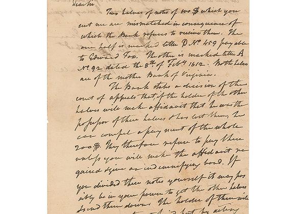John Marshall Autograph Letter Signed
