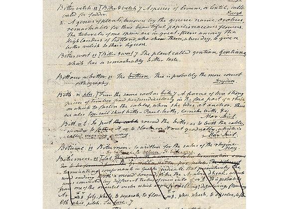 Noah Webster Autograph Manuscript