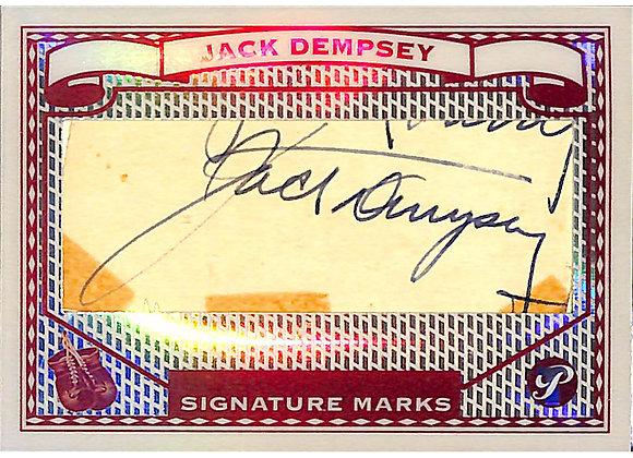 Jack Dempsey Cut Signature