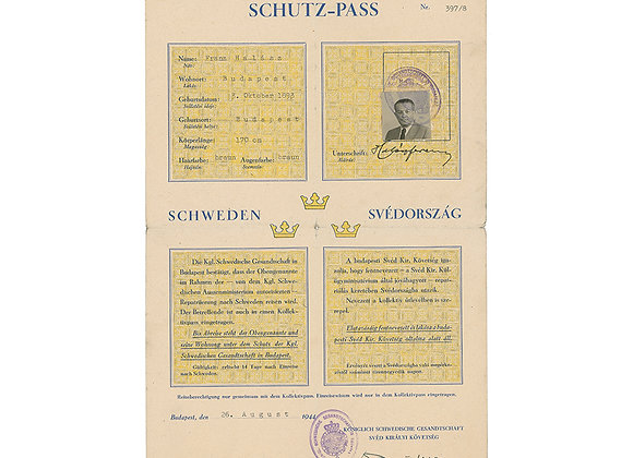 Raoul Wallenberg Signed Document