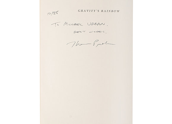 Thomas Pynchon Signed Book