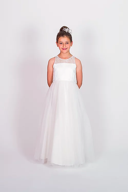 Communion/Flowergirl Gown 6114 white