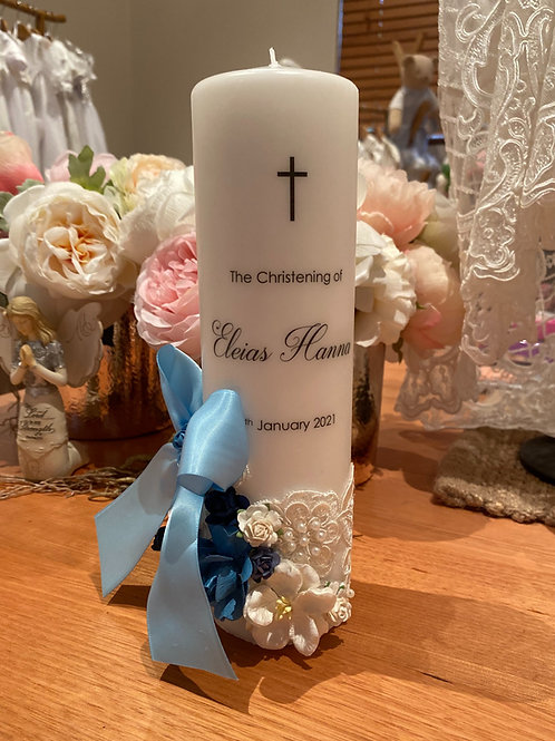 Personalised Candle Eleias Style