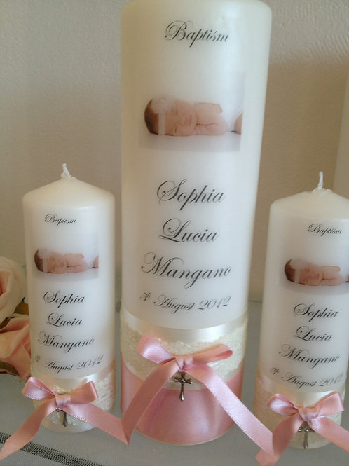 Personalised Candle Sophia Lucia Style
