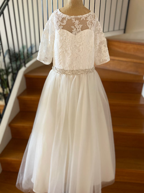 Communion Flowergirl Dress Addison Ivory