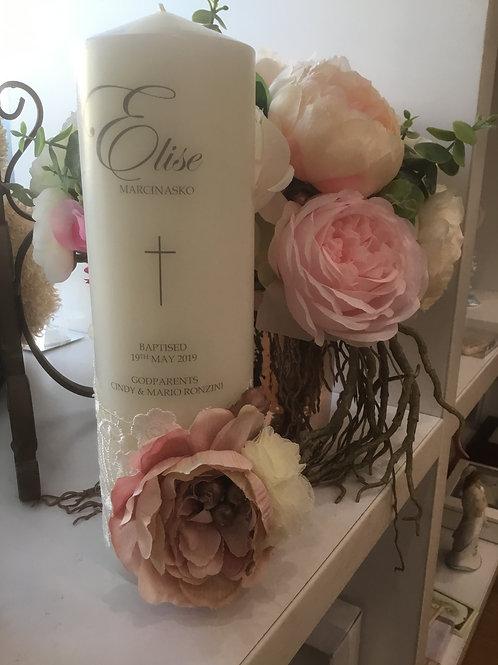 Personalised Candle Elise Style