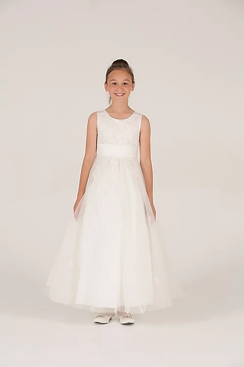Communion/Flowergirl Gown 6084 White
