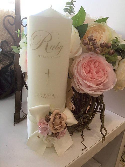 Personalised Candle Ruby Style