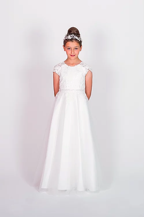 Communion/Flowergirl Gown 6117 White