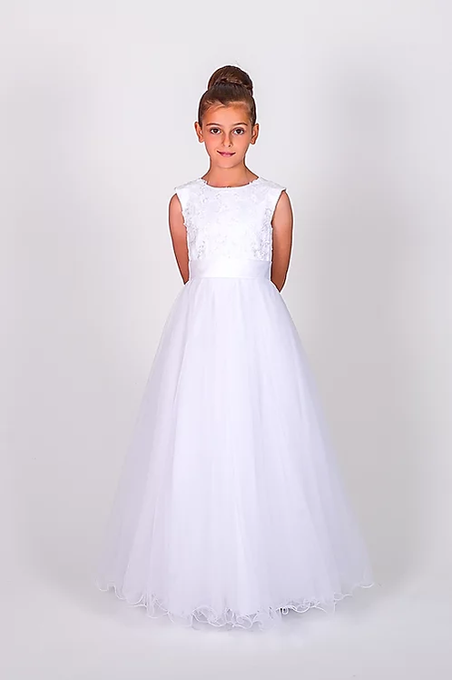 Communion/Flowergirl Gown 6109 White