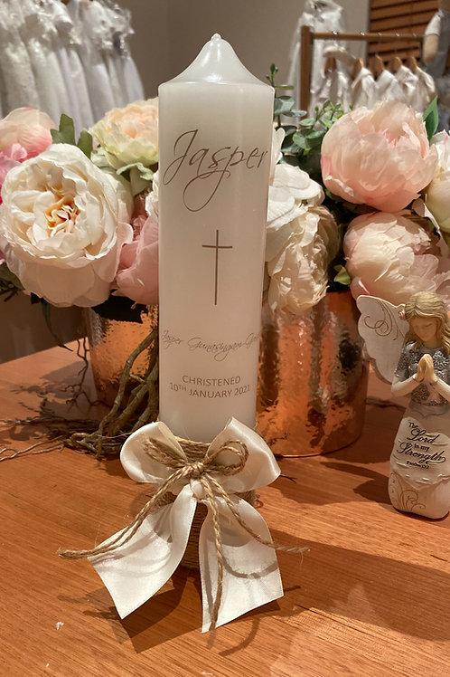 Personalised Candle Jasper Style