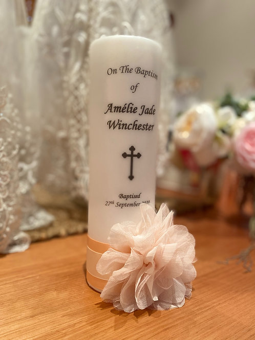 Personalised Candle Amelie Jade Style