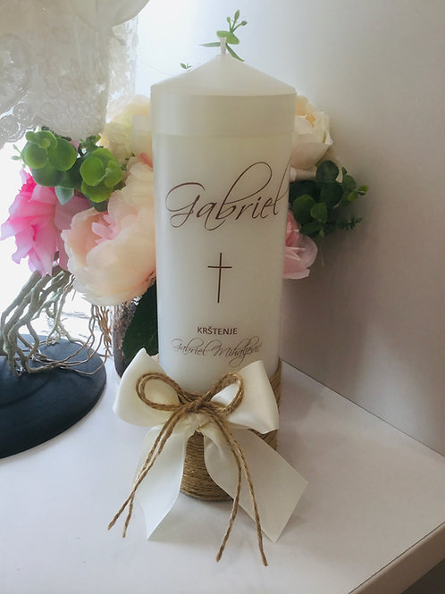 Personalised Candle Gabriel Style