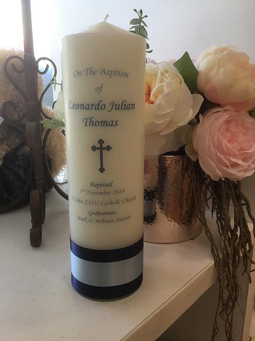 Personalised Candle Leonardo Julian Style