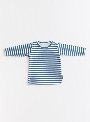 Sea-blue stripe t-shirt
