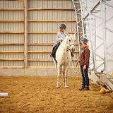 Bonne cavalière déjà😊 #equitationetholo