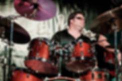 Brady on drums