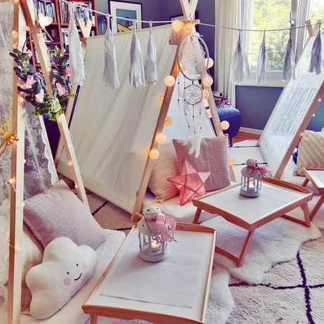 Teepee Friends Boho Sleepover Party in Zurich