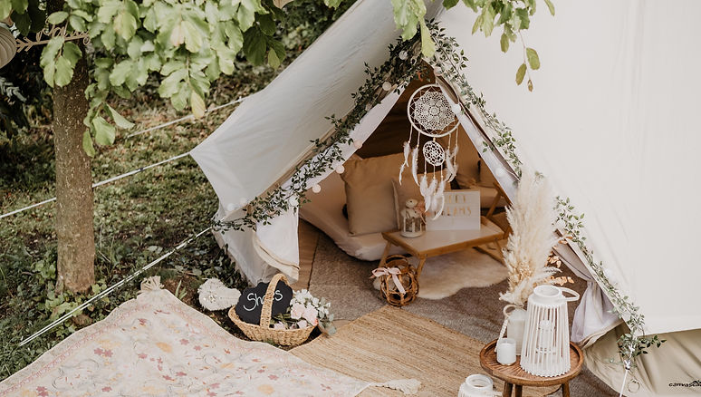 Teepee Friends Outdoor tent Garden party Boho Party